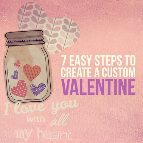 Valentine card design tutorial