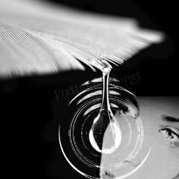 black & white photography emotions wapcloseup watereffect