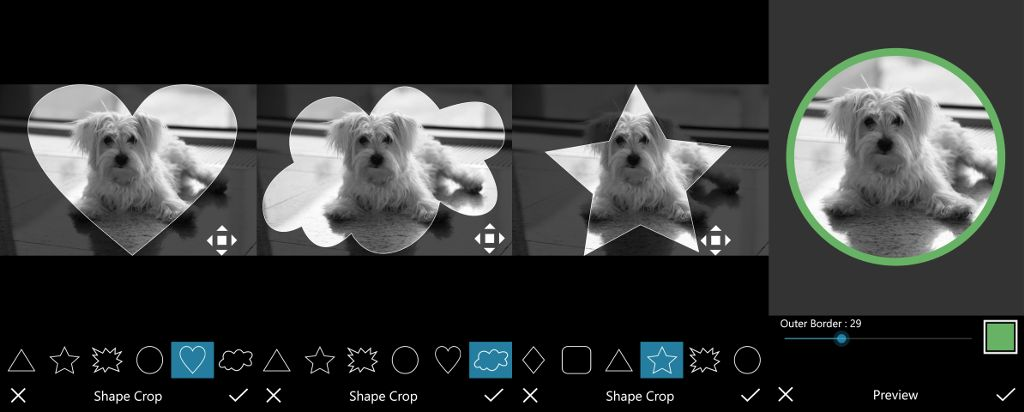 shape crop windows phone