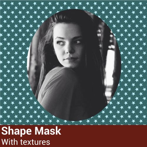 picsart shape mask with texture