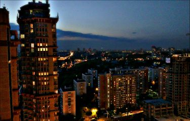 night summer moscow city love