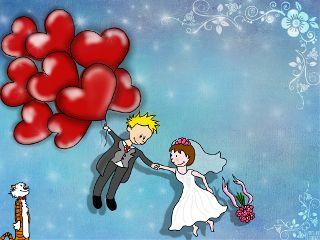 illustrations doodles wedding card heart