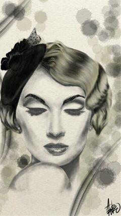 art drawing people pencilart retro