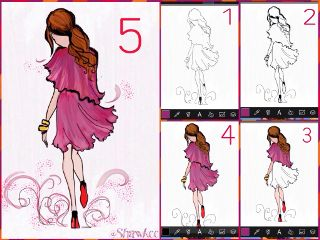 artwork pink tutorial step by step fashion