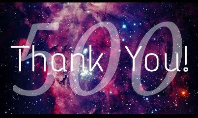 milestone happy 500 thanks!