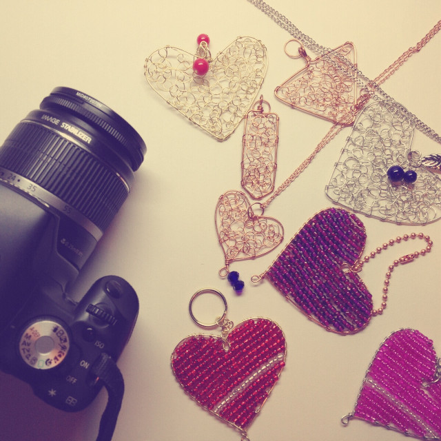 My models are ready for photo shoot :D. They are the jewelry and accessories I made.