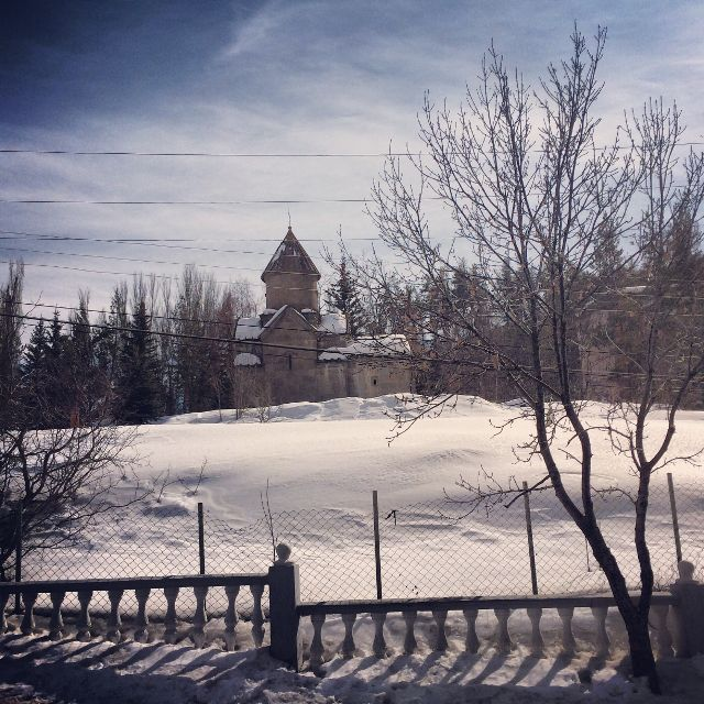 winter and church